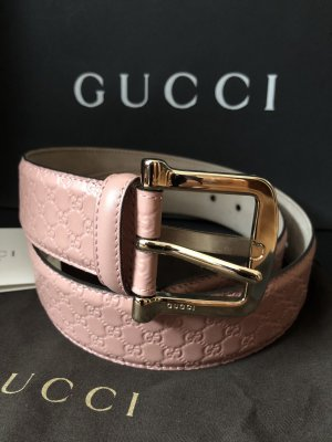 Gucci Leather Belt pink-rose-gold-coloured