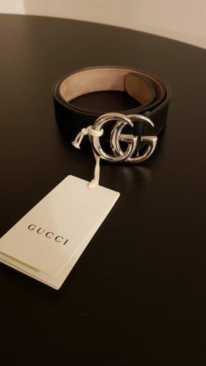Gucci Leder Gürtel, schwarz