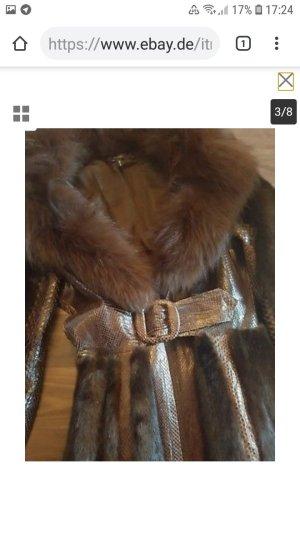 Gucci Leder Mink  top Gr. 36 Übergangsmantel
