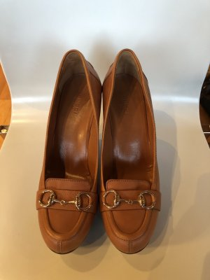 Gucci Platform Pumps cognac-coloured