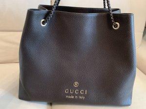 Gucci Borsa shopper marrone-oro Pelle