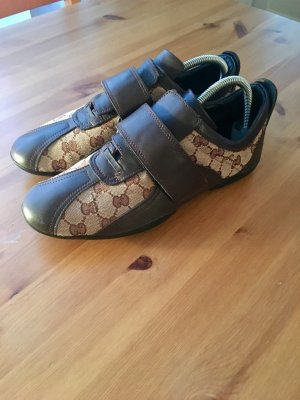 Gucci Sneaker con strappi marrone scuro-beige