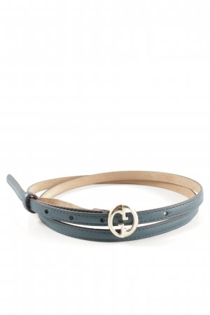 Gucci Leather Belt petrol classic style
