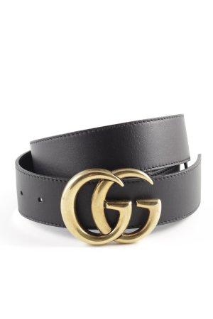 Gucci Leather Belt black-gold-colored elegant