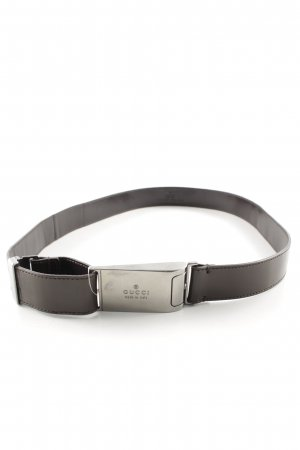 Gucci Leather Belt dark brown casual look