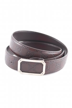 Gucci Leather Belt dark brown-black brown elegant