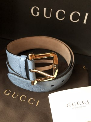 Gucci Leather Belt azure