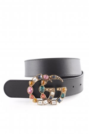 "Gucci Leather Belt ""Leather Belt With Crystal Double G Buckle Black"" black"