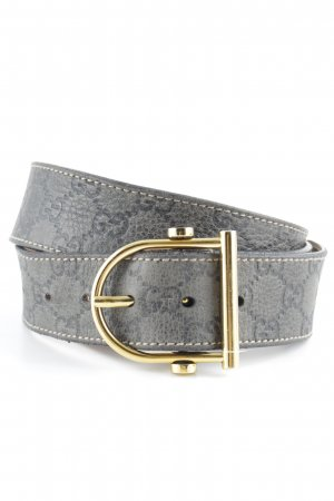 Gucci Leather Belt monogram pattern business style
