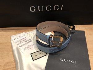 Gucci Lederen riem korenblauw