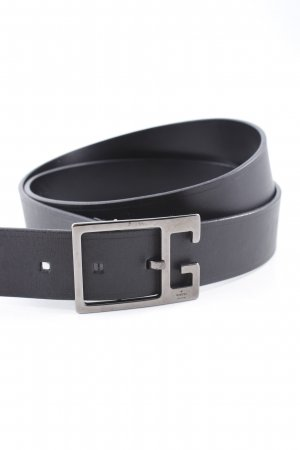 Gucci Leather Belt silver-colored-black elegant