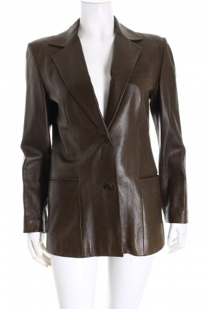 Gucci Lederjacke braun Business-Look