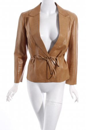 Gucci Lederjacke camel Country-Look