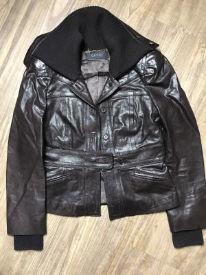 Gucci Leather Jacket dark brown