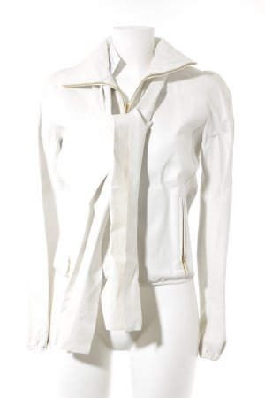 Gucci Leren jack licht beige casual uitstraling