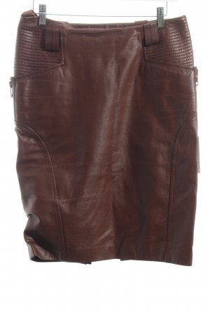 Gucci Falda de cuero marrón look Street-Style