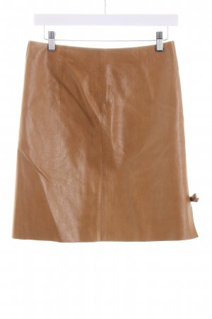 Gucci Leather Skirt camel country style
