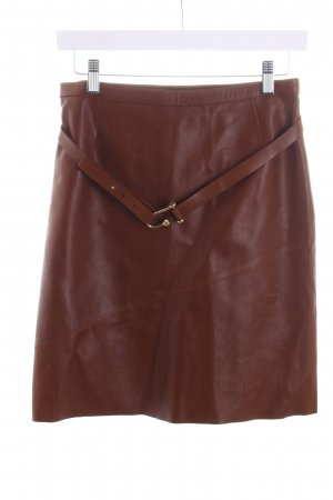 Gucci Leather Skirt cognac-coloured party style