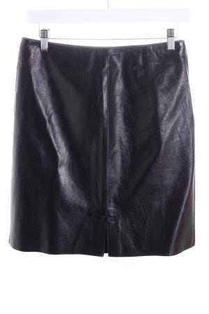 Gucci Leren rok zwart bruin country stijl