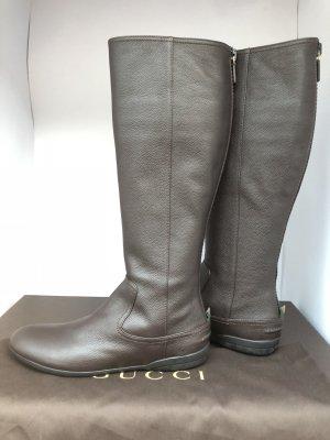 Gucci Hoge laarzen donkerbruin-bruin Leer