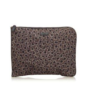 Gucci Leopard Print Nylon Clutch