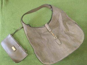 Gucci Handbag grey brown leather