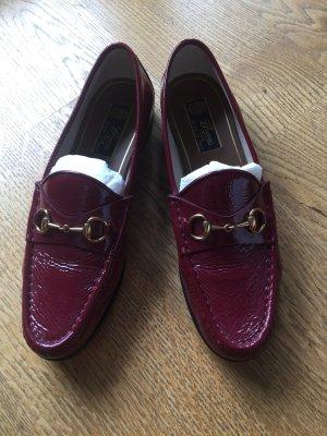 Gucci Loafer/ Mokassins, rot, Lackleder, Größe 38,5