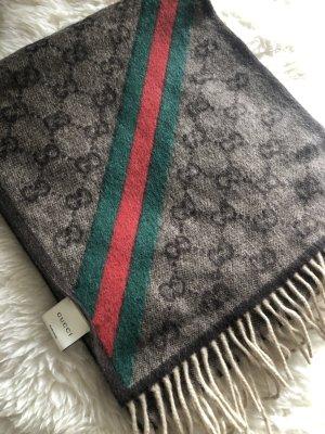 Gucci Bufanda de flecos multicolor lana de angora