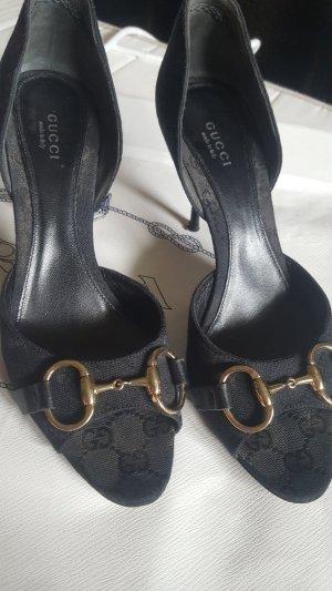 Gucci Pumps black-silver-colored