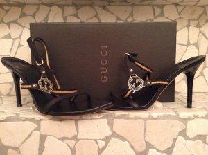 GUCCI Luxus Sandaletten schwarz Größe 38,5