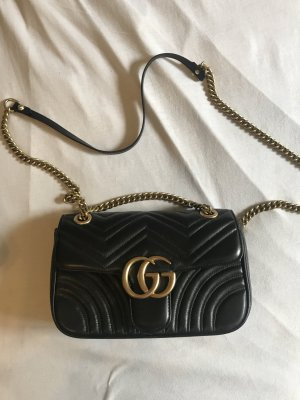 Gucci Handbag black-gold-colored leather