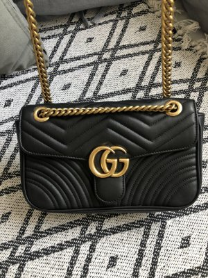 Gucci Carry Bag black-gold-colored