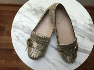 Gucci Mary Jane ballerina's goud