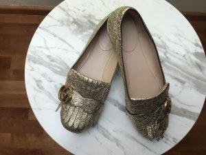 Gucci Bailarinas con tacón Mary Jane color oro