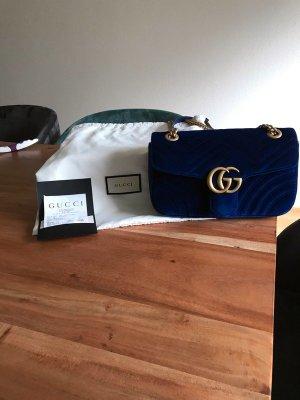 Gucci Bag blue alpaca wool