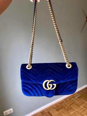Gucci Borsa clutch blu scuro
