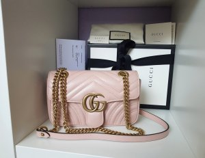 Gucci Marmont Flap Bag Perfect Pink Rosa