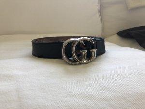 Gucci Marmont Ledergürtel Logo GG Buckle