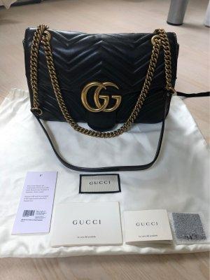 Gucci Marmont, medium, schwarzes Leder