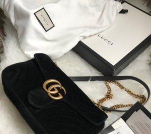 Gucci Sac à main noir laine angora