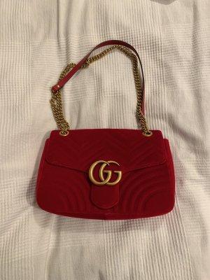 Gucci Marmont Samt Crossbody Tasche
