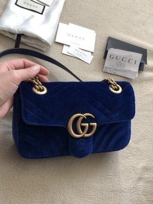 Gucci Marmont samt Mini Blau
