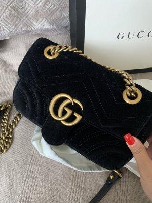 Gucci marmont Samt schwarz  Mini