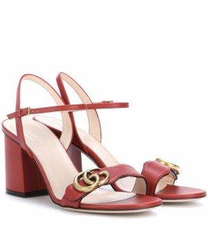 Gucci Sandales à lanière rouge-doré