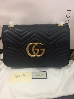 Gucci Crossbody bag black-gold-colored leather