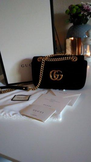 Gucci Marmont Schwarz Samt Neu 1290€