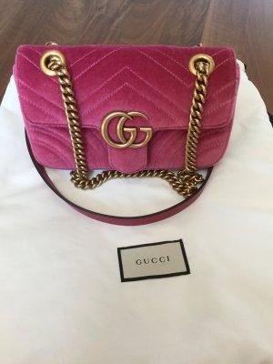 Gucci Sac porté épaule rouge framboise