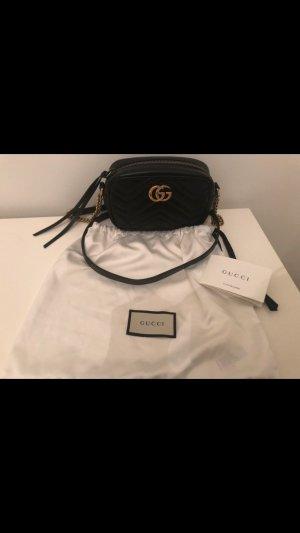 Gucci Minitasje zwart-goud Leer