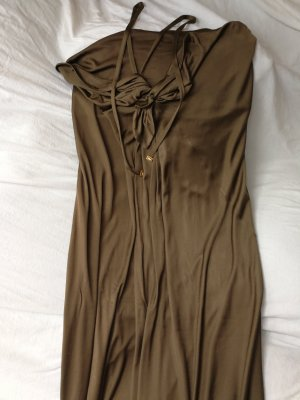 Gucci Maxidress Abendkleid Sommerkleid in khaki Gr M