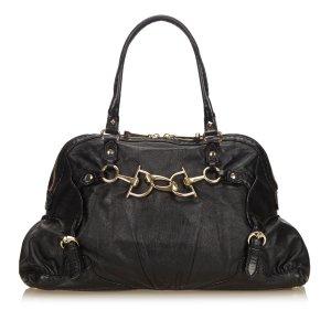 Gucci Medium Horsebit Nail Leather Shoulder Bag